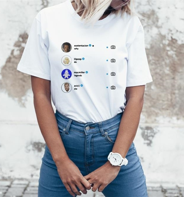 Kuakuayu HJN Unisex Prečo Legendy Die T-Shirt Xxxtentaction Lilpeep Hold Tričko Hip-hop Rapper Čaj